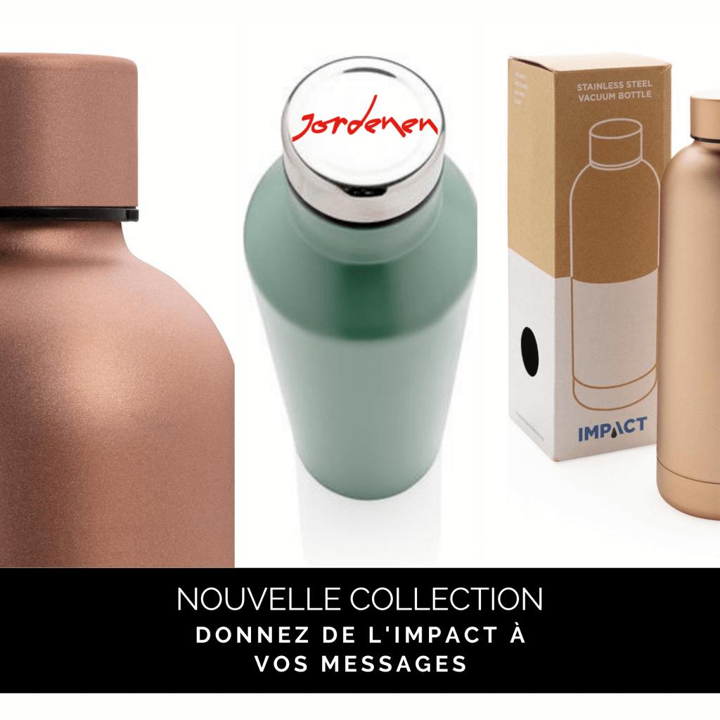 La collection IMPACT est une ligne de produits qui veillent à économiser l'eau grâce à l'utilisation de matières recyclées !